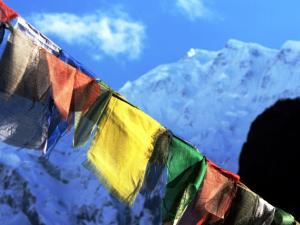 nepal Annapurna Conservation Area 22 Chame Prayer Flags