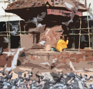 nepal Kathmandu 11 Durbar  Square Saddhu filter1