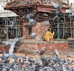 nepal Kathmandu 11 Durbar  Square Saddhu filter3